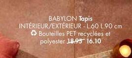 BABYLON tapis offre à 16,1€