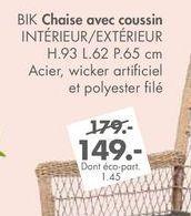 BIK chaise avec coussin offre à 149€