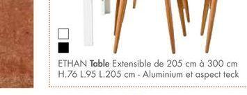 ETHAN table offre à 799€