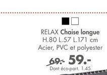 RELAX chaise lounge offre à 59€