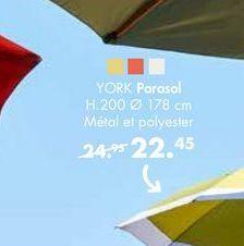 YORK parasols offre à 22,45€