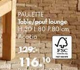 PAULETTE table/pouf lounge offre à 116,1€
