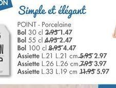 POINT Porcelaine offre à 1,47€