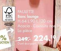 PAULETTE banc lounge offre à 224€