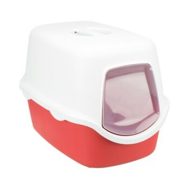 Toilette pour chat Vico Rouge et blanc offre à 18,69€