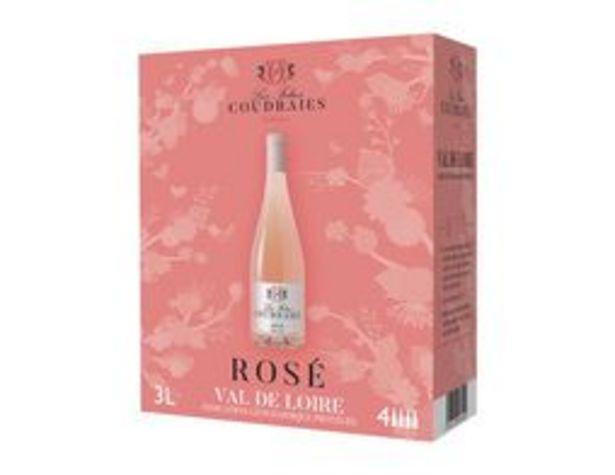 Vin rosé IGP Val de Loire offre à 7,99€