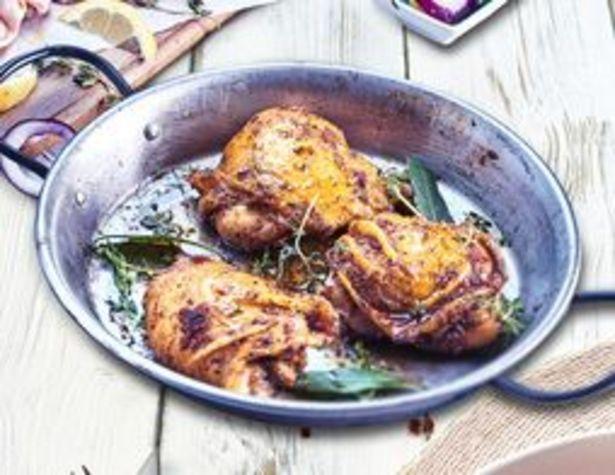 Hauts de cuisse de poulet marinés aux herbes de Provence surgelés offre à 8,49€