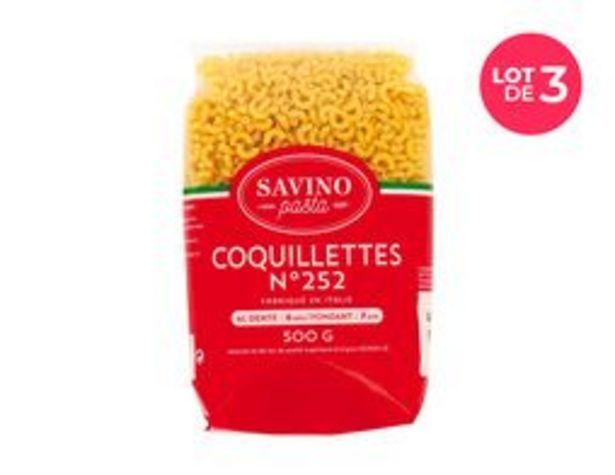 Lot de 3 paquets de pâtes Petites coquillettes Savino - Gancettini offre à 2€