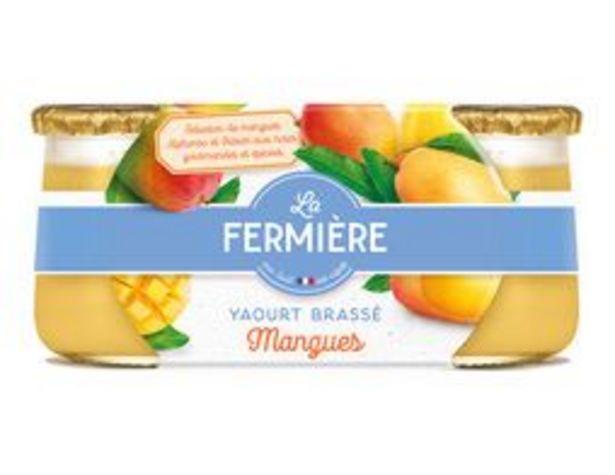 2 yaourts brassés mangue offre à 2,06€