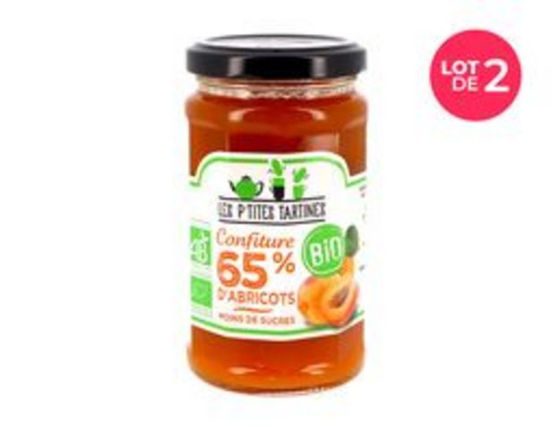 Lot de 2 pots de confitures allégées à l'abricot bio offre à 5€