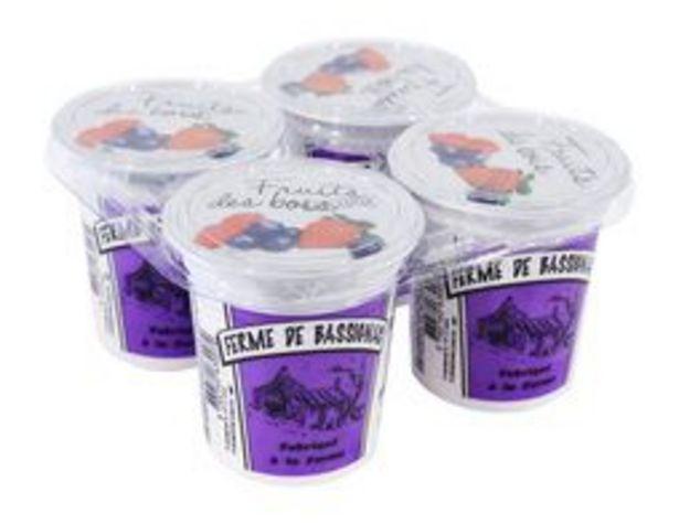 4 yaourts fruits des bois offre à 2,99€