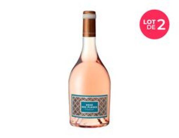 Lot de 2 bouteilles de vin rosé IGP Herault Rosé des plages offre à 10€