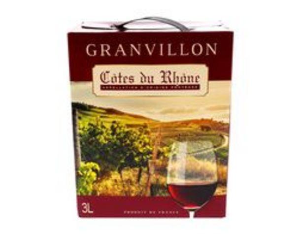 Granvillon AOP Côtes du Rhône offre à 10,99€