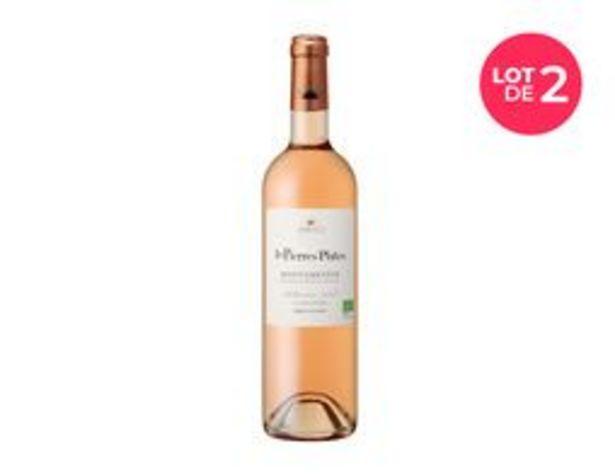 Lot de 2 bouteilles de vin Rosé IGP Médterranée BIO Les pierres plates  offre à 8€
