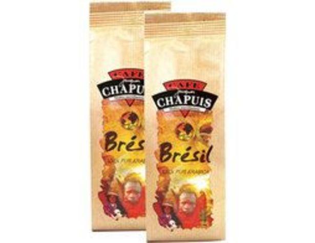 Lot de café moulu pur arabica origine Brésil Chapuis offre à 7,19€