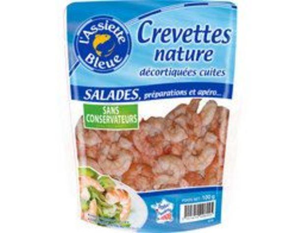 Crevettes nature cuites et décortiquées L'Assiette Bleue offre à 3,81€