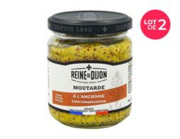 Lot de 2 pots de moutarde à l'ancienne Reine de Dijon offre à 1,5€