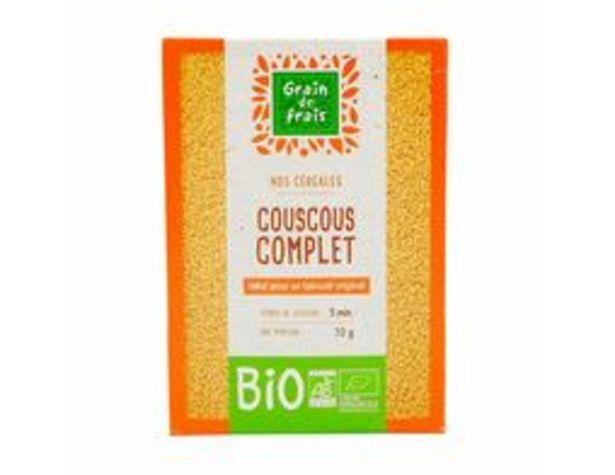 Couscous complet bio Grain de frais offre à 1,49€