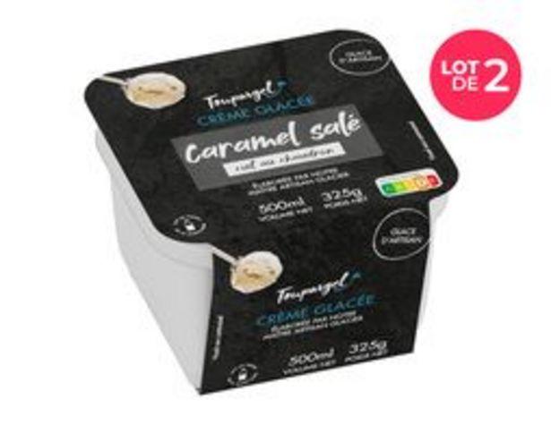 Lot de 2 bacs de crème glacée caramel salé offre à 7,96€