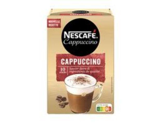 Nescafé cappuccino offre à 3,49€