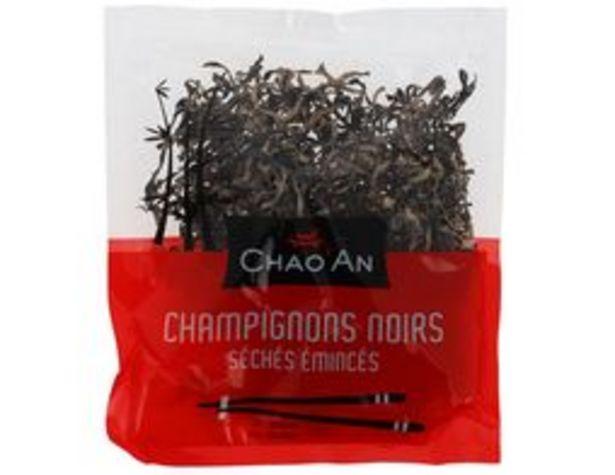 Champignons noirs séchés émincés Chao An offre à 1,31€