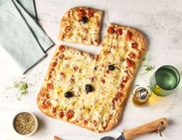 Pizza 4 fromages rectangulaire surgelée offre à 4,99€