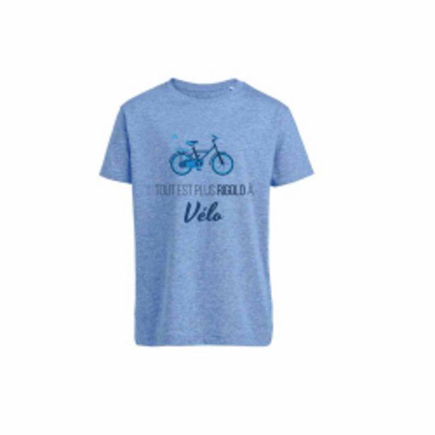 T-shirt Vélo Enfant - BLEU CHINE offre à 13,93€