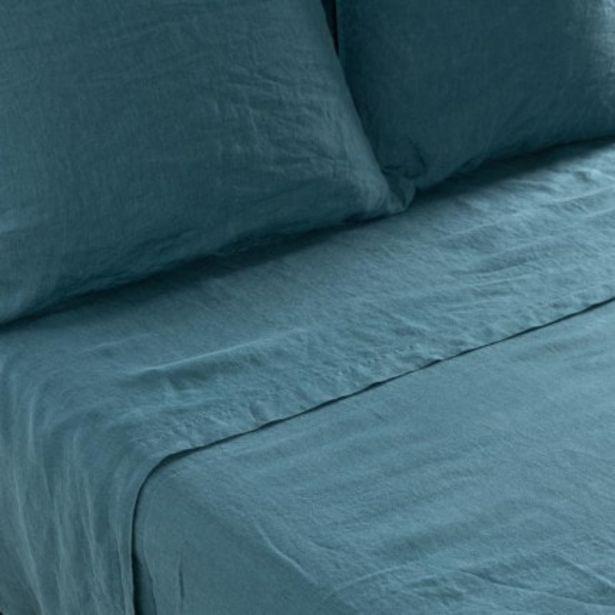 Drap de lit en lin lavé Songe feuille offre à 104€