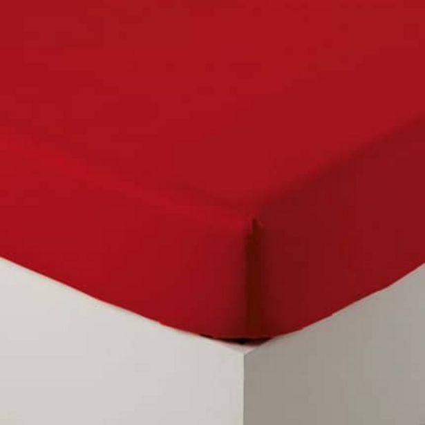 Drap housse percale de coton Neo rouge offre à 28€