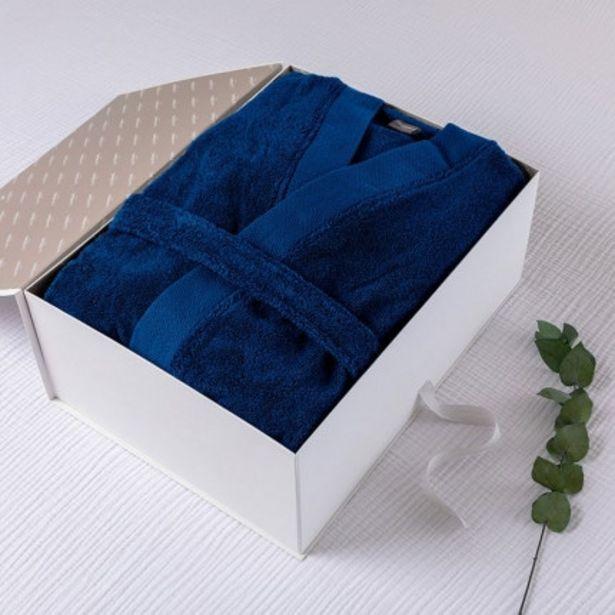 Coffret cadeau peignoir homme Romeo cobalt offre à 76€