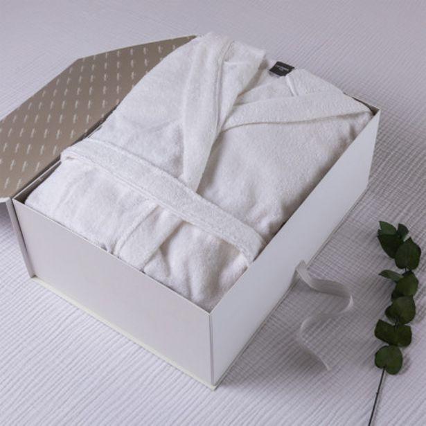 Coffret cadeau peignoir femme coton bio Osmose blanc offre à 60€