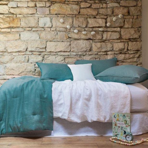 Parure de lit enfant en lin lavé Songe pétrole offre à 96€