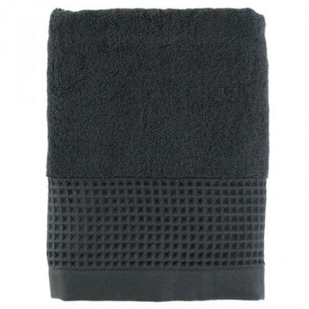 Drap de bain bouclette de coton biologique Source fusain offre à 28€
