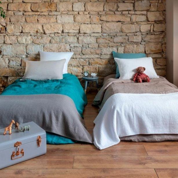 Parure de lit enfant en lin lavé Songe taupe offre à 96€