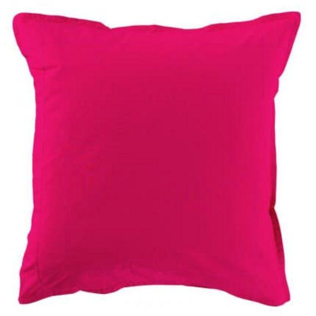 Taie d'oreiller carrée percale de coton Neo magenta offre à 16€