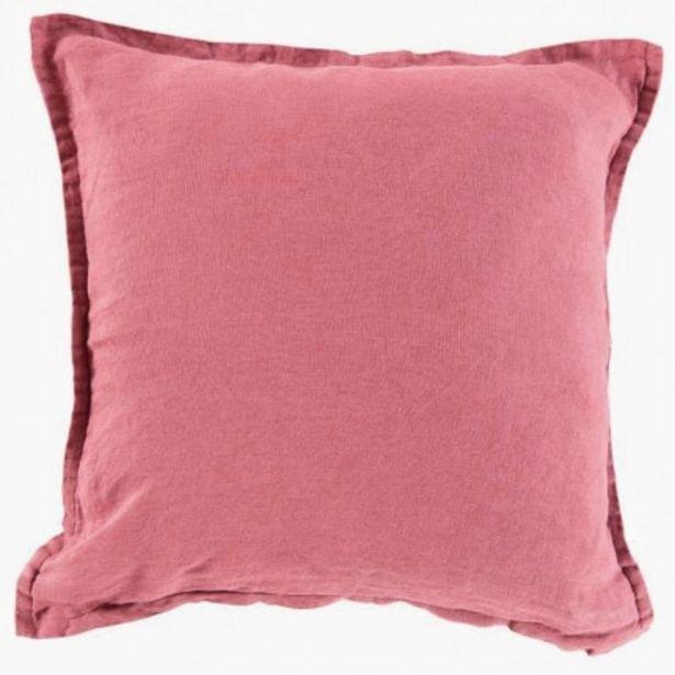 Housse de coussin en lin lavé Songe bois de rose offre à 16€
