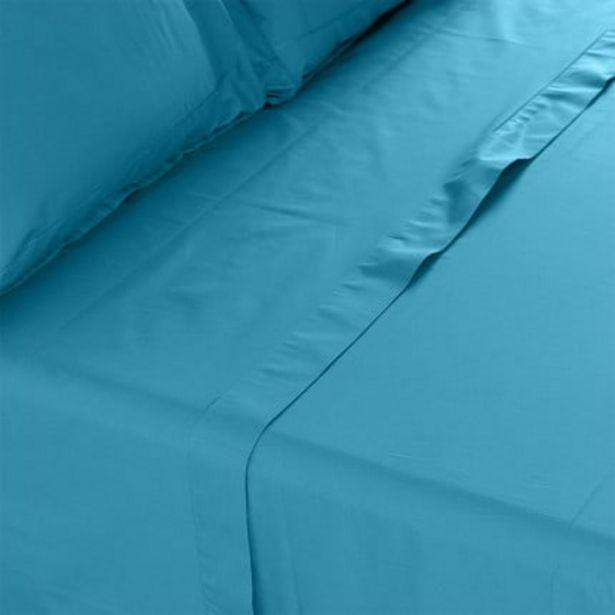 Drap de lit percale de coton Neo canard offre à 36€
