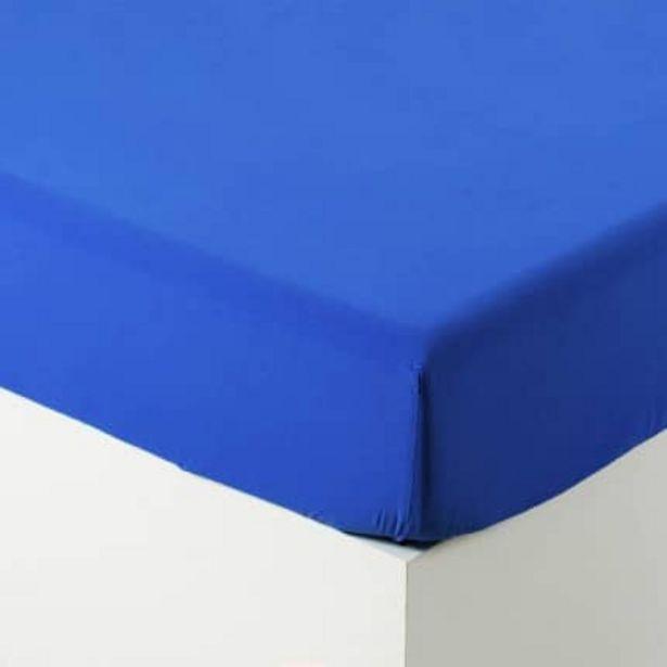 Drap housse en coton lavé Songe cobalt offre à 32€
