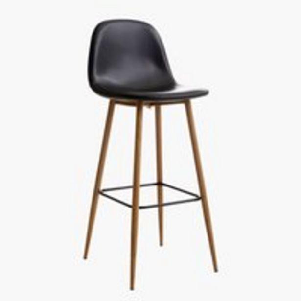 Chaise de bar JONSTRUP noir/chêne offre à 59,99€