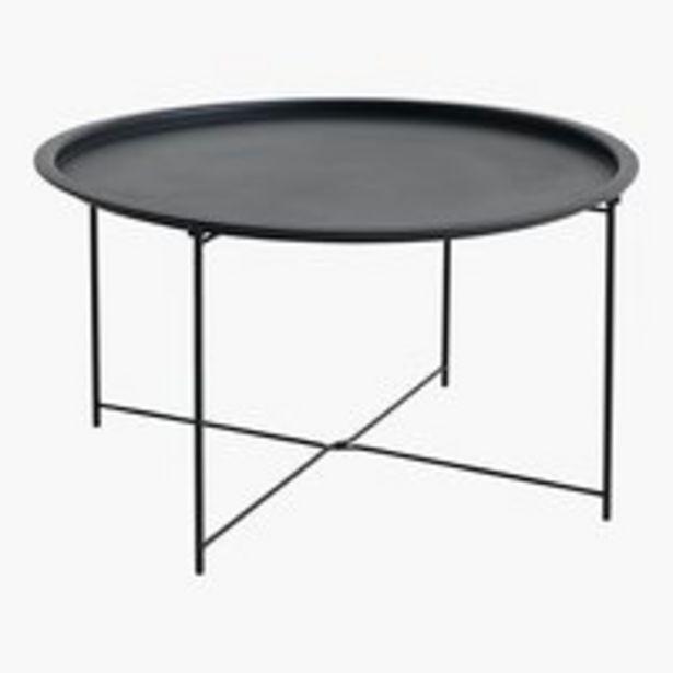 Table basse RANDERUP Ø75 noir offre à 37,5€