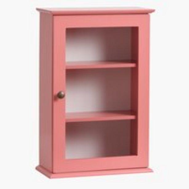Armoire murale LOOK IN rose poudré offre à 59,99€
