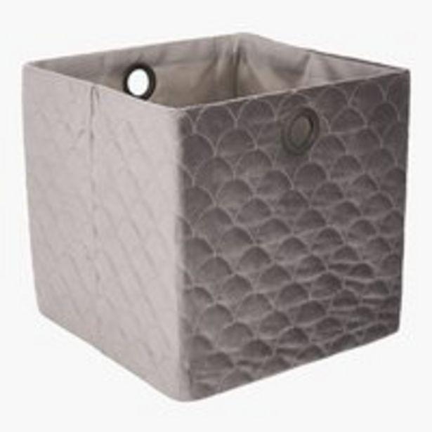 Panier MARIE l30xL30xH30cm gris offre à 12,99€