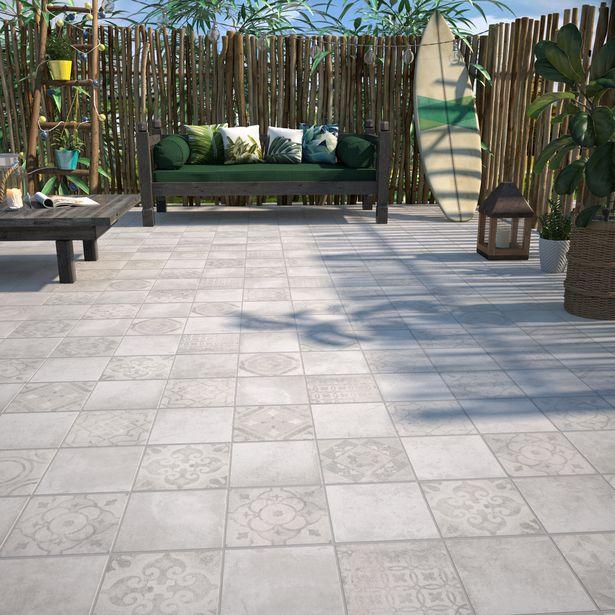 Carrelage sol/mur extérieur forte carreau ciment blanc Apero l.20 x L.20 cm offre à 15,96€