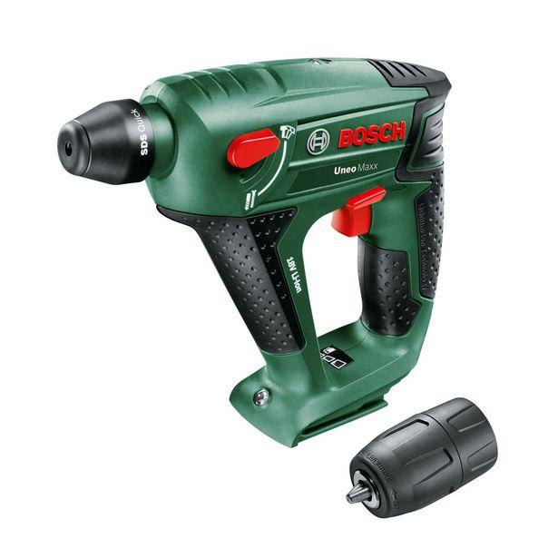 Perforateur sans batterie BOSCH Uneo Maxx + mandrin, 18 V offre à 103,94€