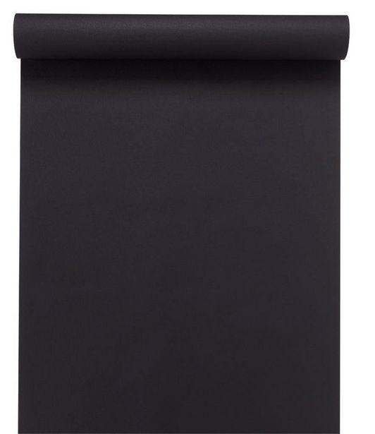 Papier peint vinyle Lisse et mat noir offre à 9,99€