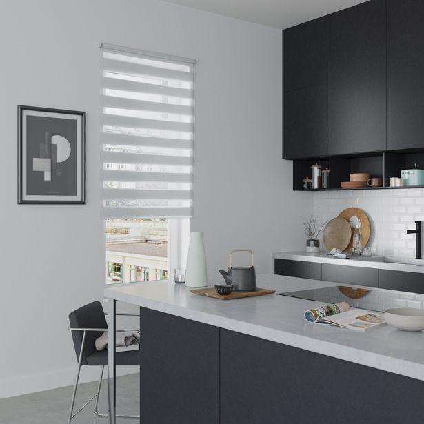 Store enrouleur jour / nuit, gris clair Authentic, l.90 x H.190 cm offre à 56,87€