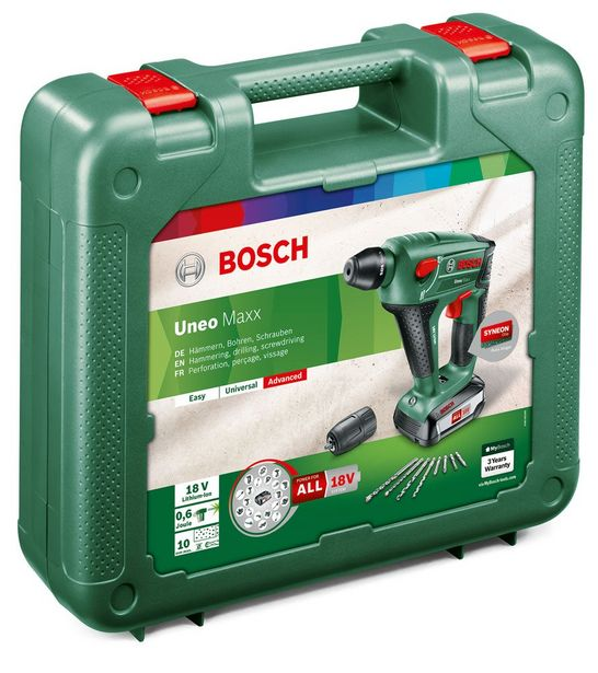 Marteau perforateur BOSCH UNEO MAXX, 18 V 1 batteries offre à 159,91€