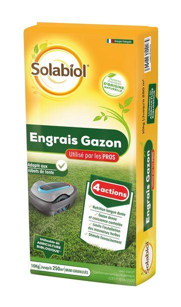 Engrais gazon SOLABIOL 250 m² offre à 29,9€