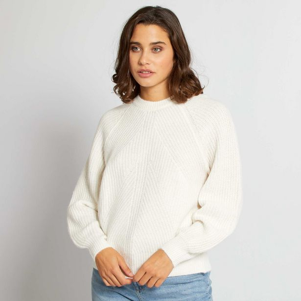 Pull maille manches longues offre à 10€