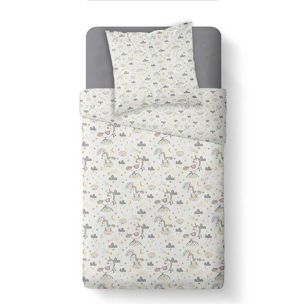 Parure de lit 'Licorne' 'Arc-en-ciel' offre à 10€